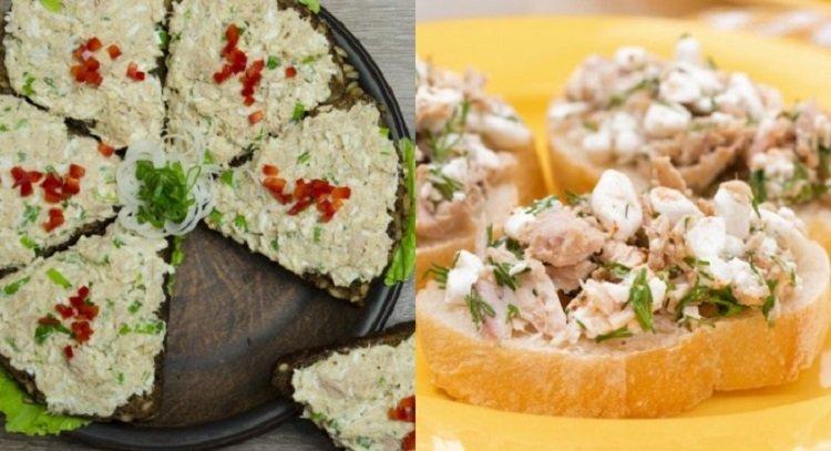 быстрые закуски, салат из консервированного тунца