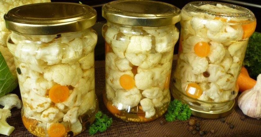 рецепты маринованной цветной капусты