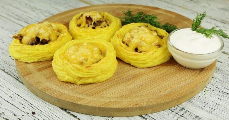 картофельные гнезда