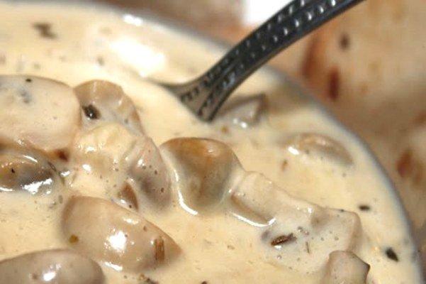Рецепты вкусных соусов, соус сливочно-грибной