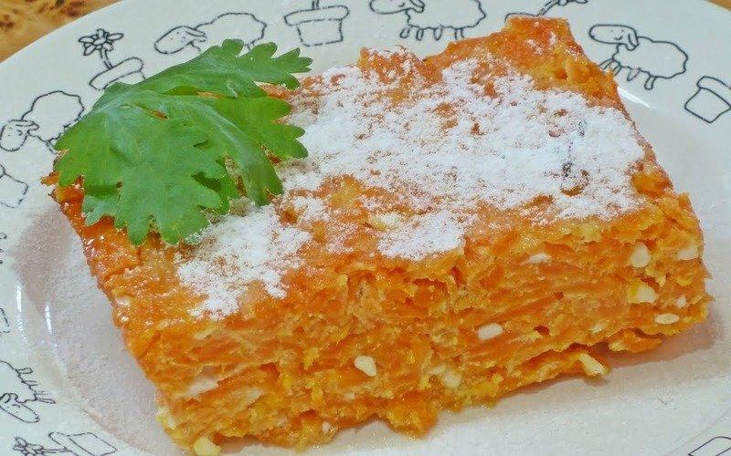 запеканка С морковью и рисом
