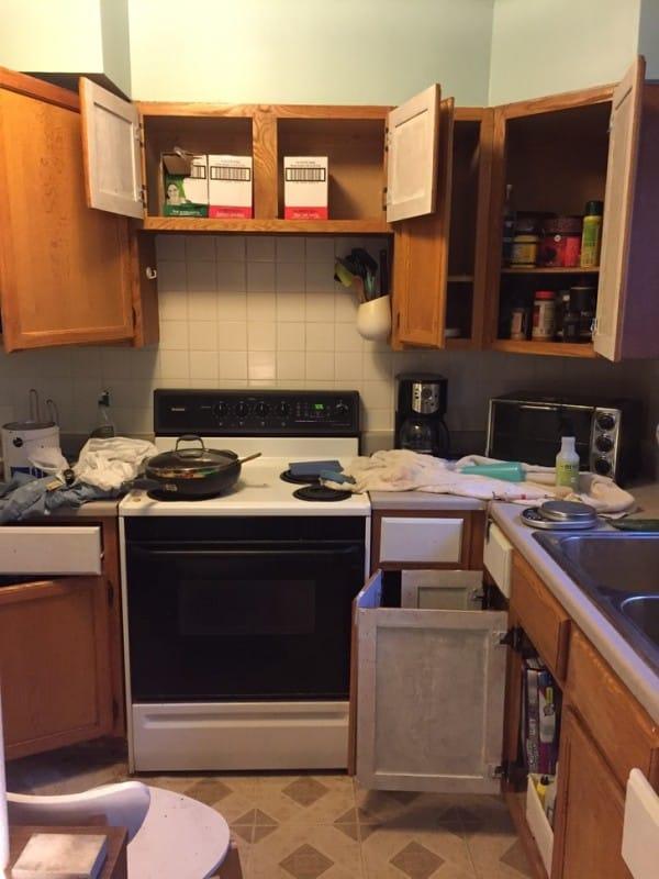 ремонт кухни своими руками фото