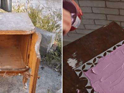 Реставрация тумбочки своими руками