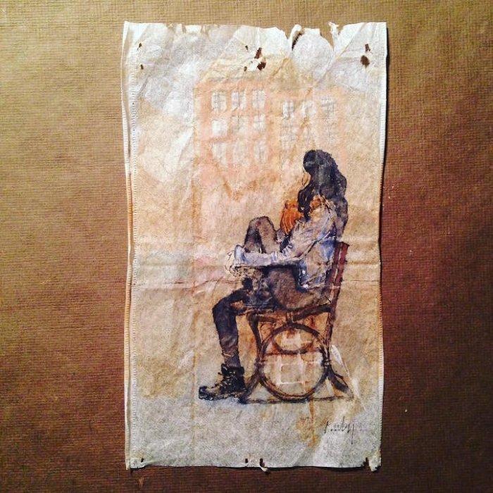 Rysunki na torebkach z herbatą