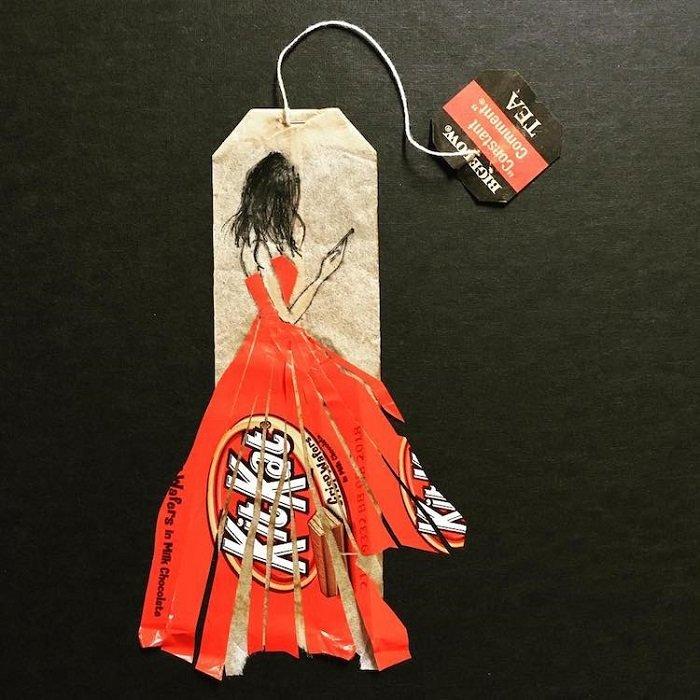 Rysunki na torebkach na herbatę [19459900] 1719); dla torebek