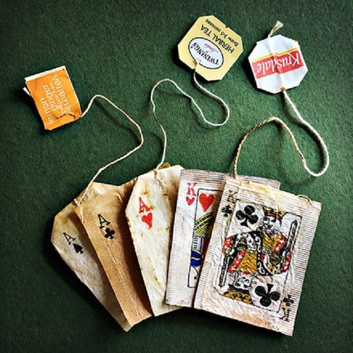 Rysunki na torebkach na herbatę