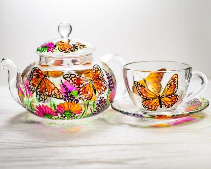 сервиз с бабочками