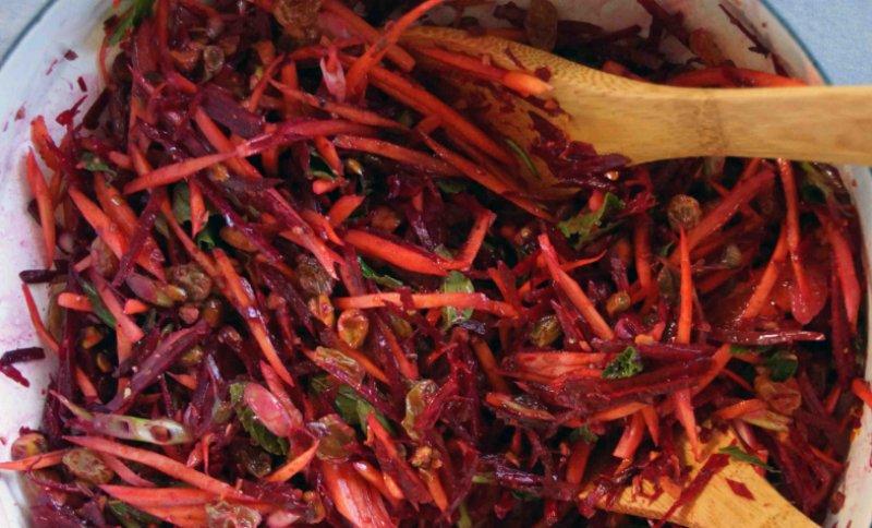 свекольный салат с морковью