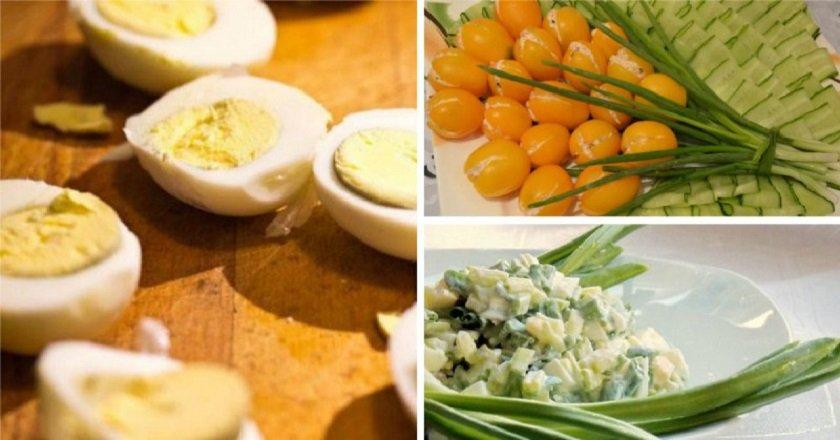 Салаты из яиц