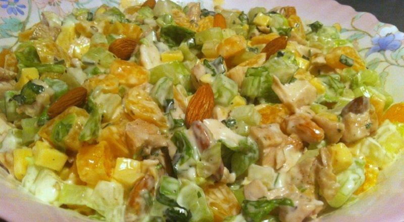 салат с куриными грудками