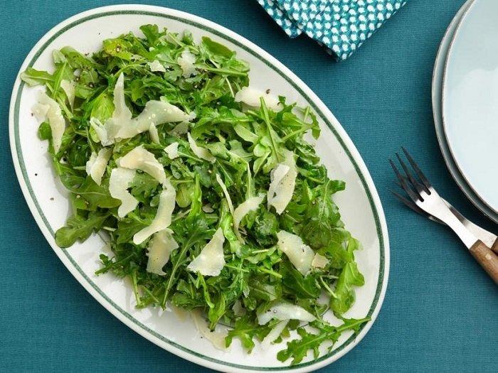 Легкие салаты от Юлии Высоцкой, салат из рукколы с сыром