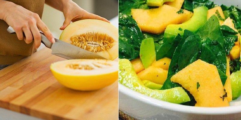 салат из дыни и авокадо