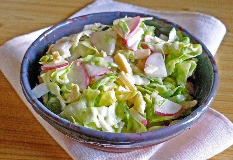 как приготовить салат с редисом