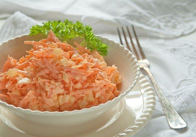 салаты с морковью