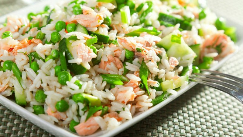 салаты с рисом
