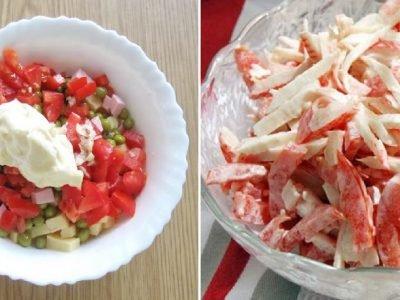 Салаты с томатами