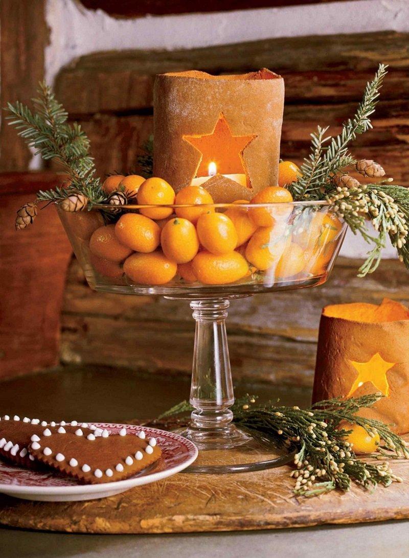 мандарины в вазе