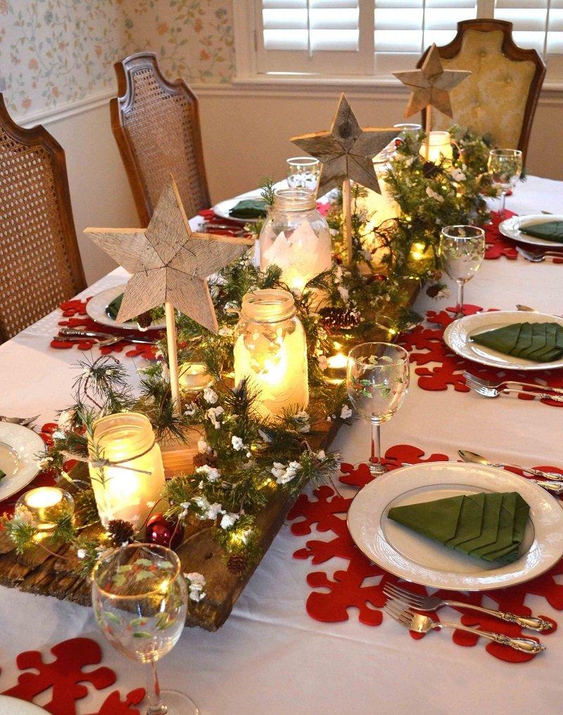 красивый новогодний столовые