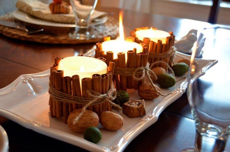 свечи из корицы