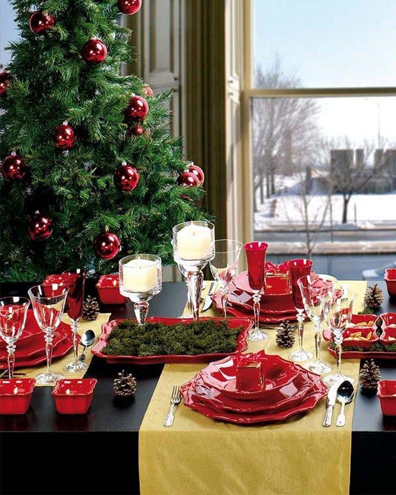 украсить стол на новый год
