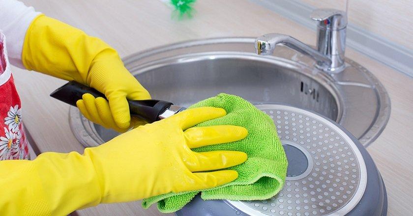 как почистить тефлоновую сковороду снаружи