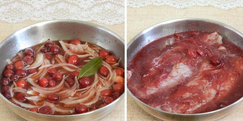 рыба в клюквенном соусе