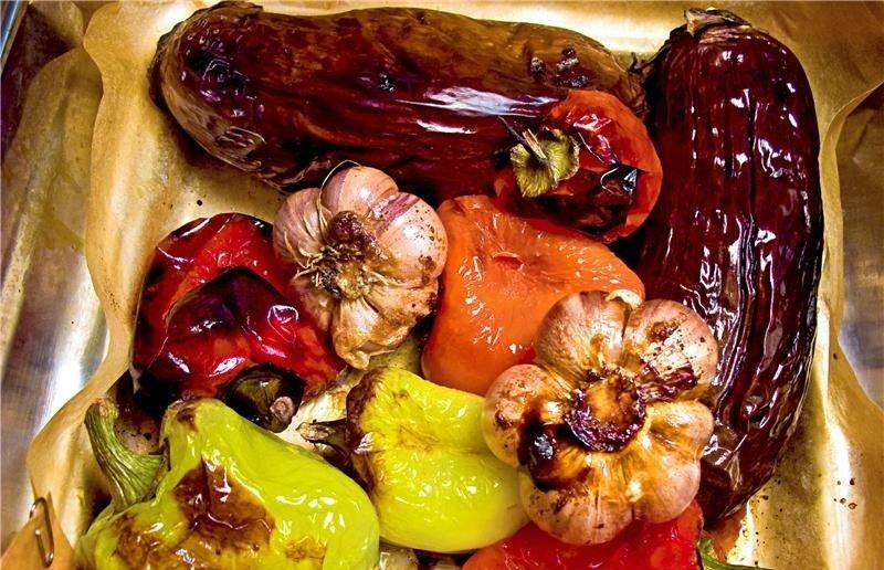 вкусные овози в духовке