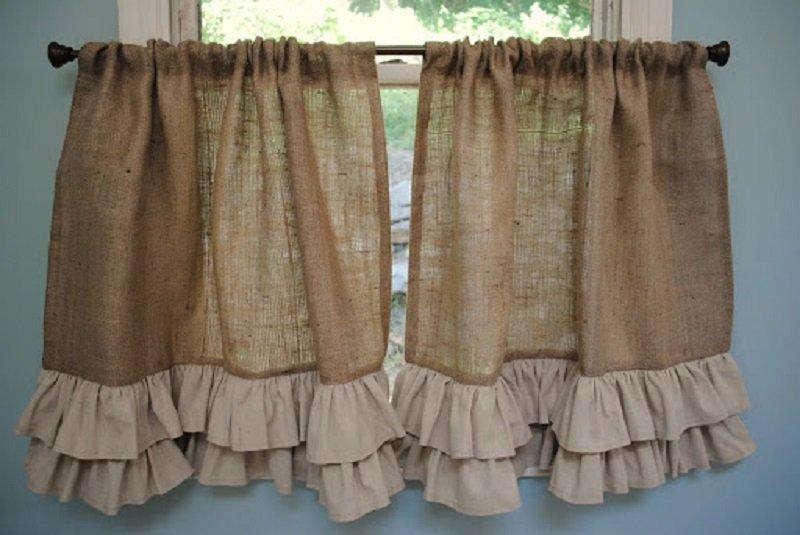 шторы из мешковины