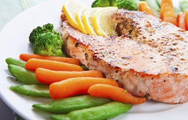 рыба с гарниром фото