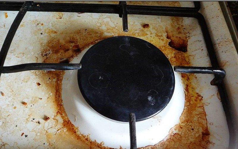 почистить газовую плиту
