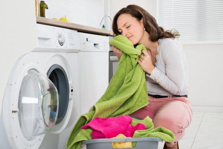 po praní změkčit ručníky