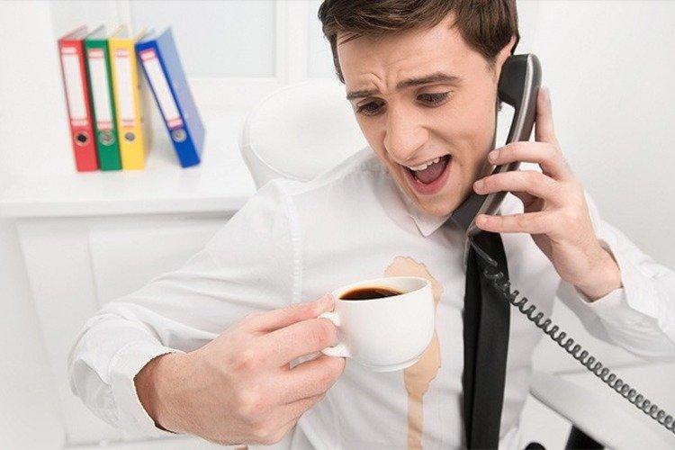 вывести пятна от кофе