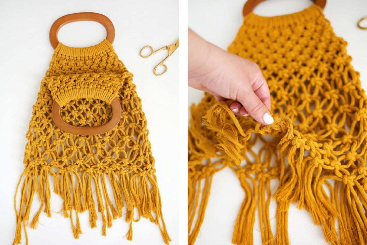 плетение нижней и боковой сторон