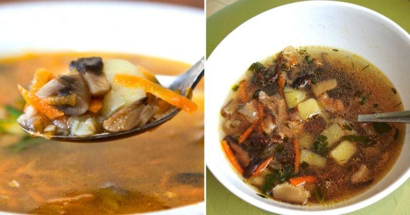 Супы из шампиньонов