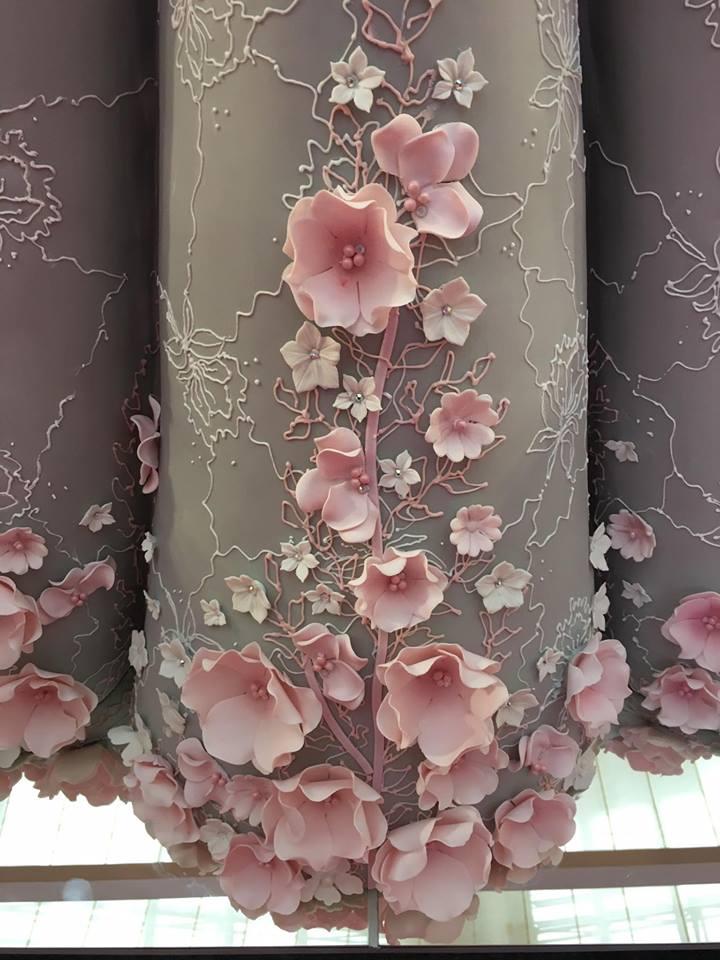 свадебное платье-торт