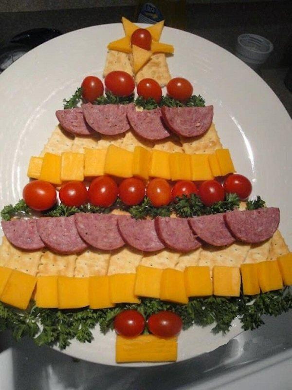 сырно-колбасная елочка