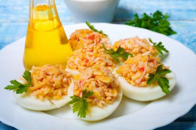 фаршированые яйца на праздничный стол