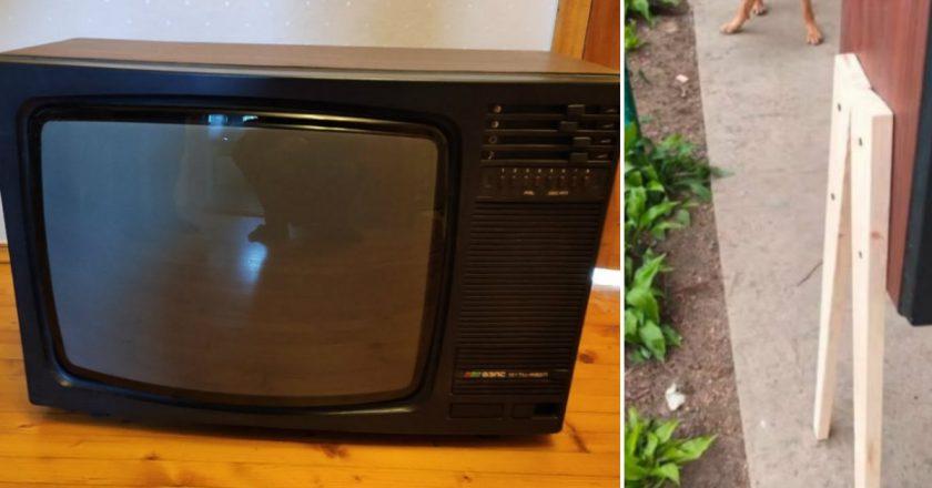 полка из старого телевизора