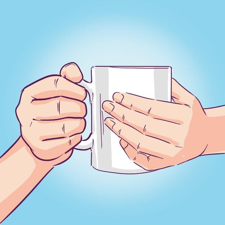 пить чай рисунок