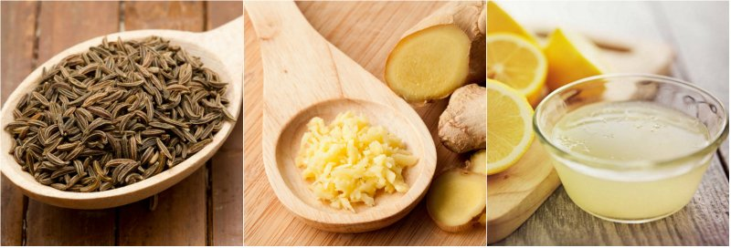 тмин, лимон и имбирь