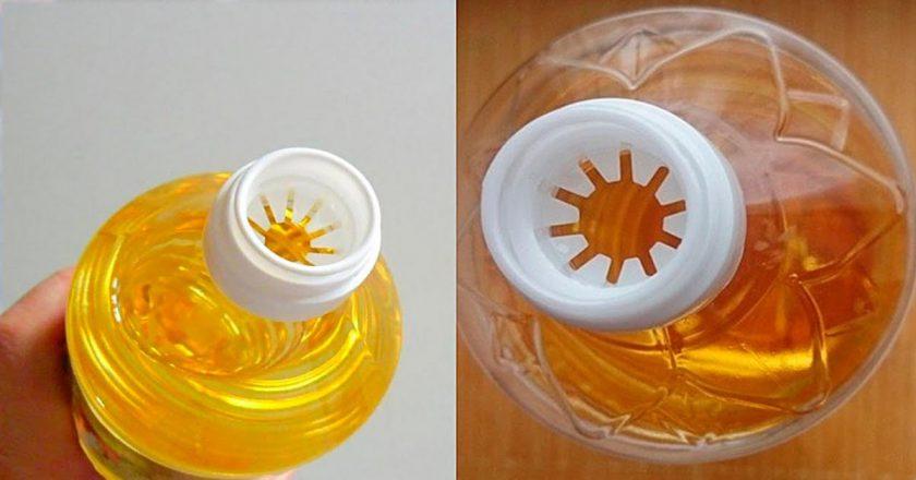 бутылка из-под растительного масла