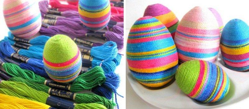 Радужный декор яиц