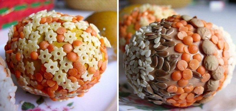 Декор пасхальных яиц сыпучими материалами