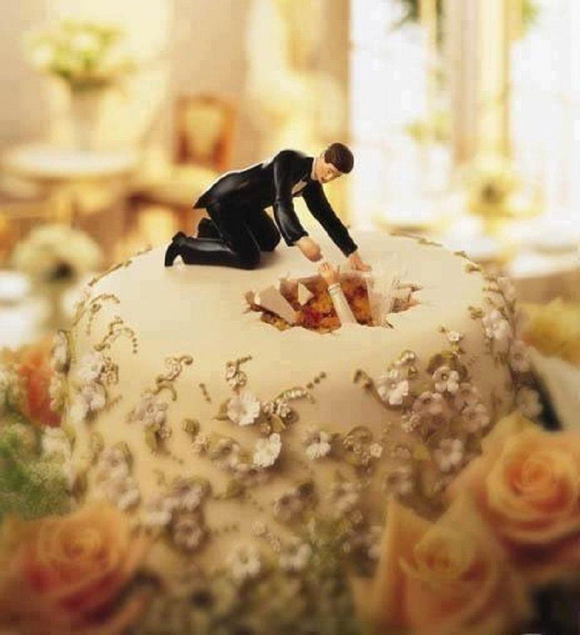 забавный свадебный торт