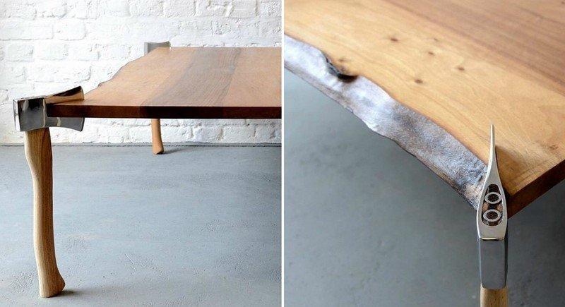 дизайнерский стол дровосека