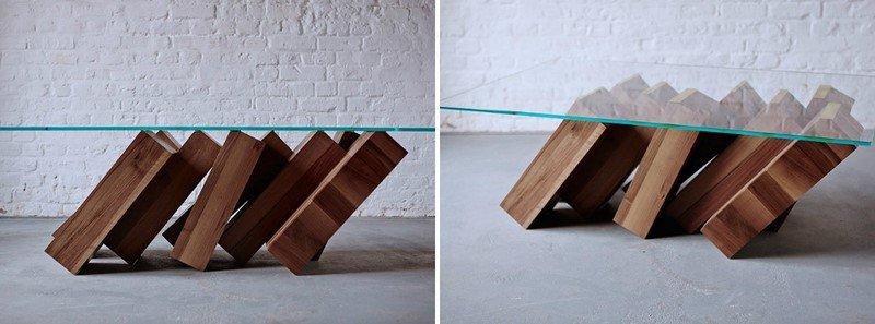 монолитный стол из дерева