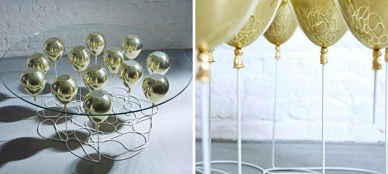 стол из воздушных шариков