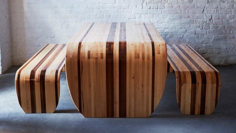 стол с лавкой