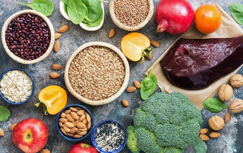 в каких продуктах содержится железо
