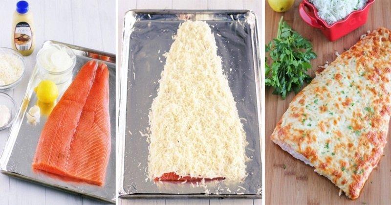 лосось под сырной корочкой
